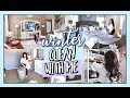 WINTER ALL DAY CLEAN WITH ME | TIDYING UP ENTIRE HOUSE!