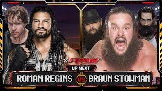 WWE Raw 2015 - Braun Stowman Vs Roman Regins Match HD