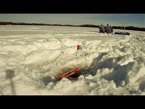 Ice Fishing Marinette Co, Wisconsin