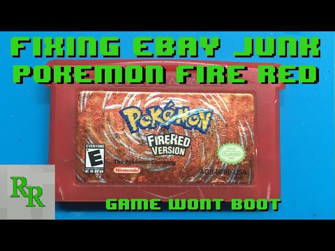 Fixing eBay Junk - Game Boy Advance Game - Game Won't Boot Up - Pokemon Fire Red