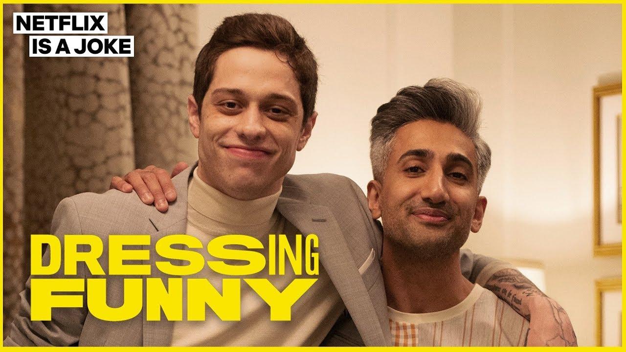 Download Tan France Gives Pete Davidson a John Mulaney Makeover | Dressing Funny | Netflix is a Joke