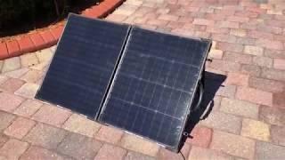 Goal Zero Boulder 100 Briefcase, 100 Watt Monocrystalline Solar Panel Yeti 1250 Generator