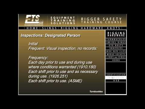 ETS Rigger Safety Training Course
