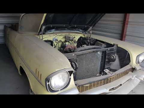Barn Find 57 Chevy convertible video 1