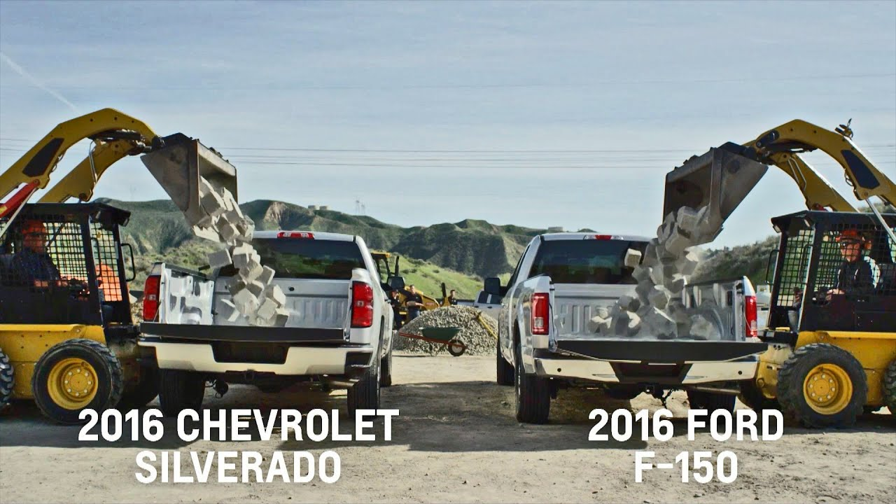 Silverado Vs F150 >> BED TESTS: Chevrolet Silverado vs. Ford F-150 (2016) - YouTube