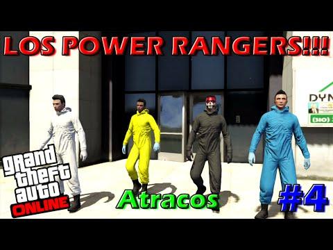 LOS POWER RANGERS!!!   Cuarto Atraco   GTA V Online   Atracos   #4   Con By Jose, Ivan y Miniature