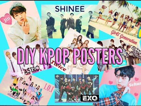 DIY KPOP POSTERS FOR YOUR ROOM! Teen Magazine Style Posters/EXO/BTS/SHINEE/