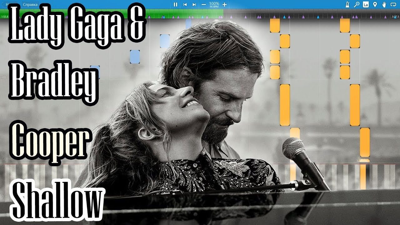 Lady Gaga & Bradley Cooper - Shallow (A Star Is Born) [Piano Tutorial |  Sheets | MIDI] Synthesia