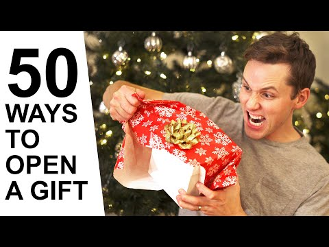 50 Ways to Open a Christmas Gift