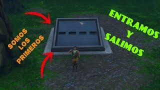 HOW TO ENTER AND LEAVE THE BUNKER IN FORTNITE!!! 1st TO GET IT!!!
