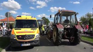 Traktorbalesetet imitáltak a Vas Megyei Mentőnapon, Répcelakon - Mentési bemutató