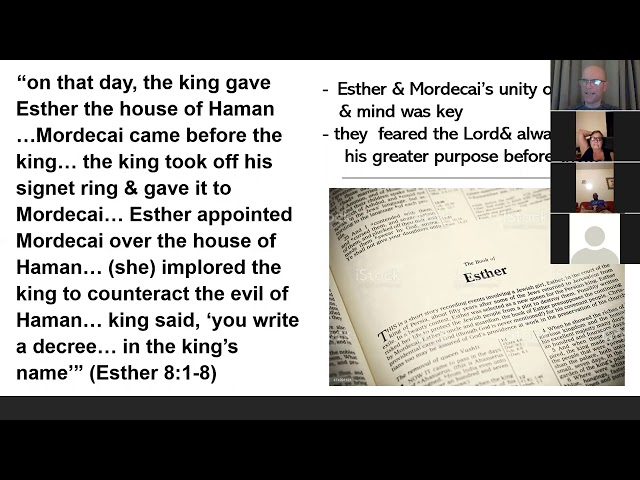 Holy Trinity Church Bible Study  the Book of Esther  Session 4
