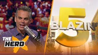 Blazin' 5: Colin's picks for 2017-18 NFL Week 1   THE HERD