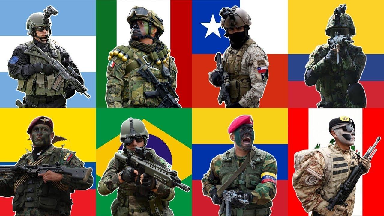 Los 10 Ejércitos Más Poderosos De Latinoamerica 2019 Youtube