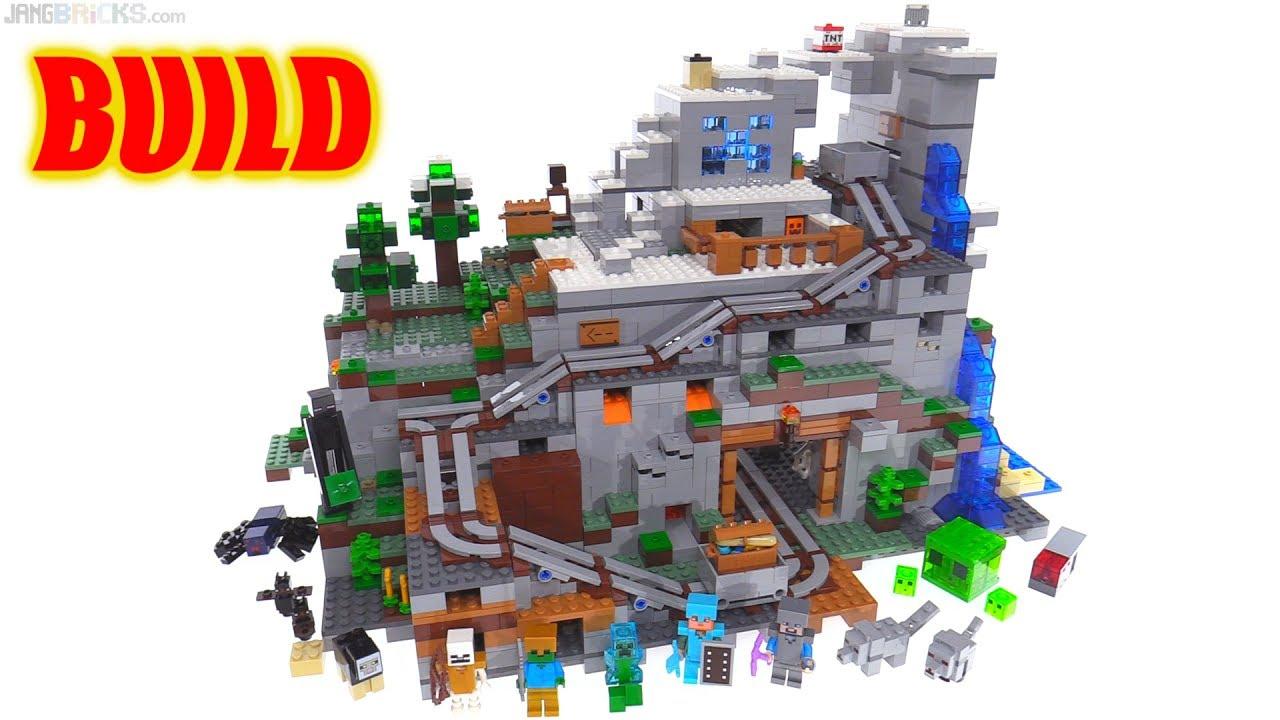 Time lapse ⏩ LEGO Minecraft Mountain Cave 8