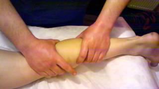 Учебная демонстрация массажа спины, рук, ног (часть2)