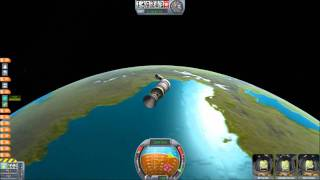 Kerbal Space Program communications satellite deployment