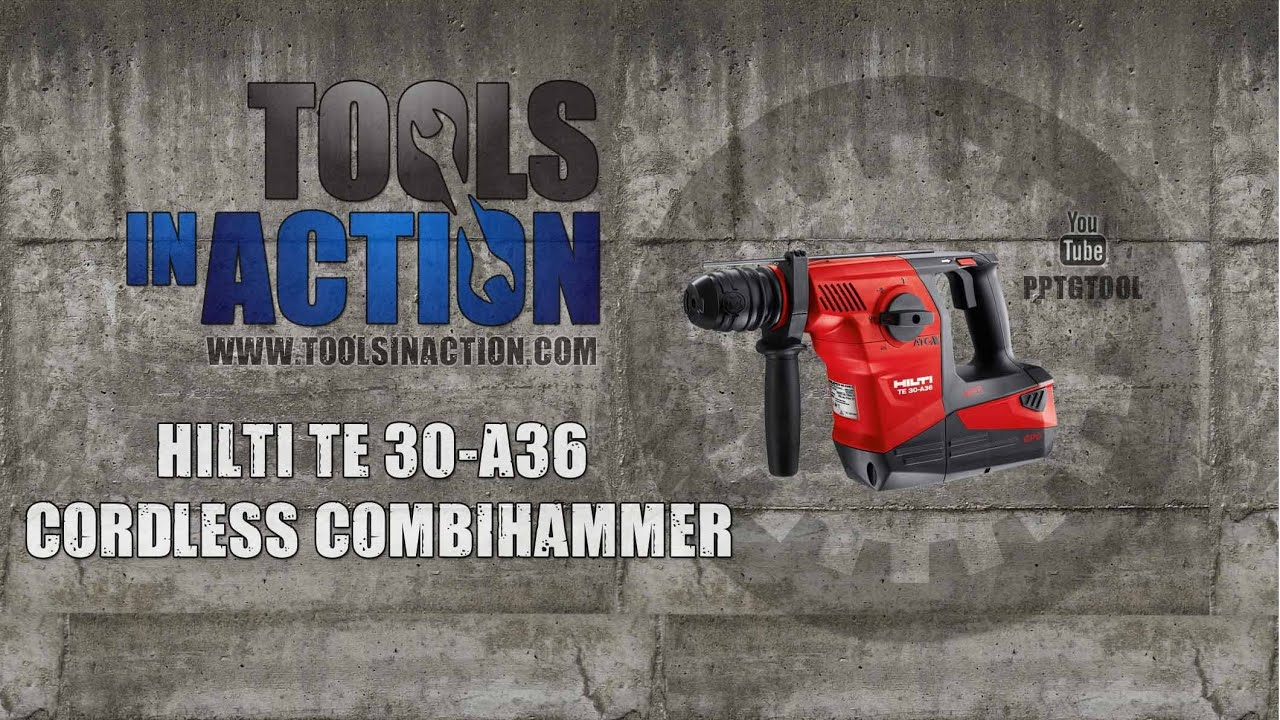 hilti te 30 a36 cordless combihammer in action youtube. Black Bedroom Furniture Sets. Home Design Ideas