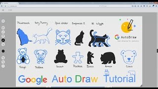 Google Autodraw Tutorial- How to Draw CUTE CATS AND TEDDIES IN Google Autodraw [Nafki Creations]