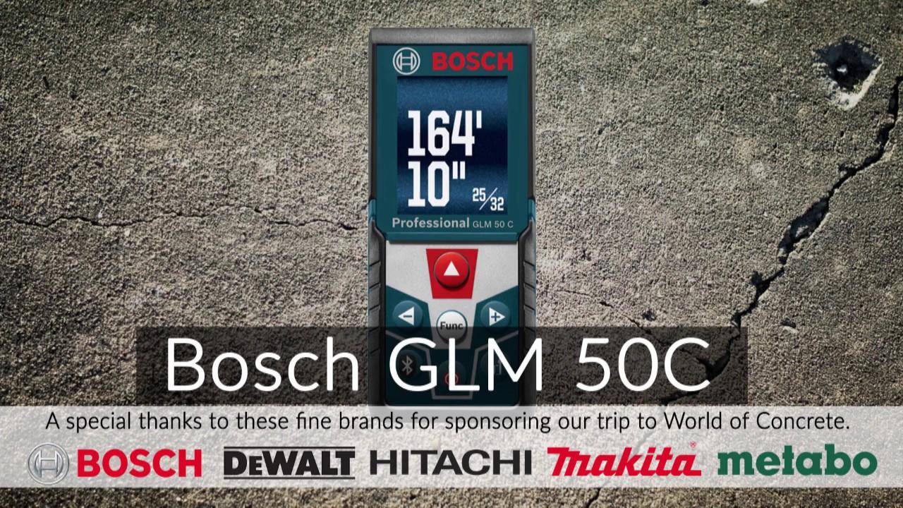 Bosch glm c laser distance measure youtube
