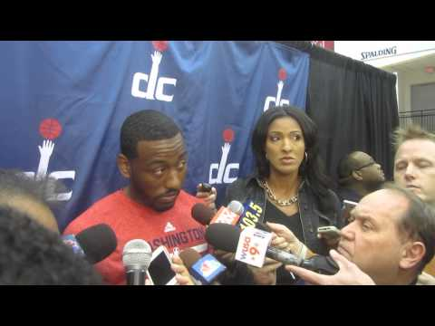 Paul Pierce Yanking John Wall from Interview During Media Day