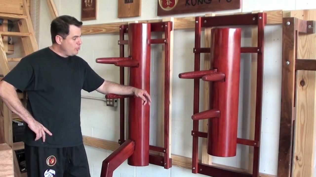 Wing Chun semicircular wooden dummy with leg
