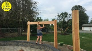 How To Build A Curved Pergola In Your Backyard That Your Family Will Love