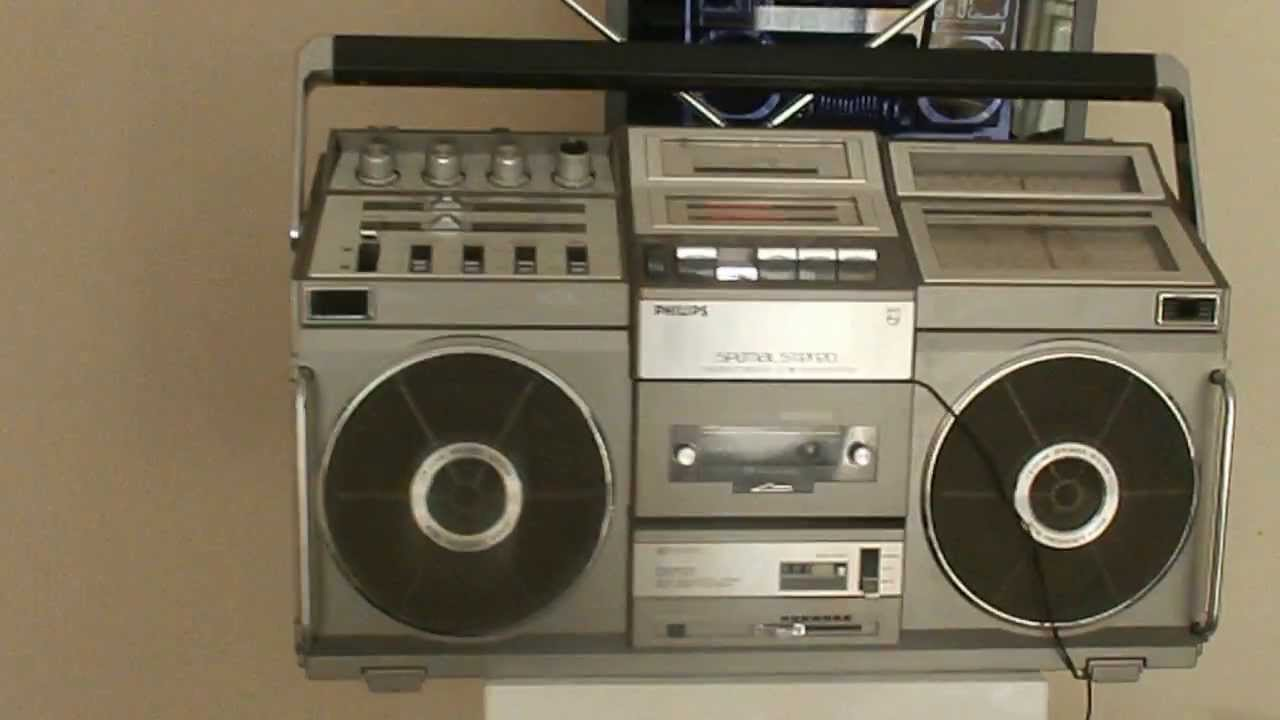Ghettoblaster boombox philips d8703 spatial stereo radio cassette rare youtube - Phillips ghetto blaster ...