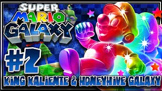 Super Mario Galaxy (1080p 60FPS 100%) - Part 2: King Kaliente & HoneyHive Galaxy