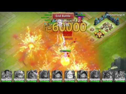 Castle Clash: 2 Man Wretched Gorge 4!
