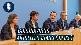 Pressekonferenz zum Coronavirus