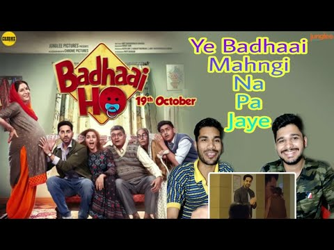 M BROS REACTION ON Badhaai Ho Official Trailer | Ayushmann Khurrana, Sanya Malhotra | M BROS INDIA