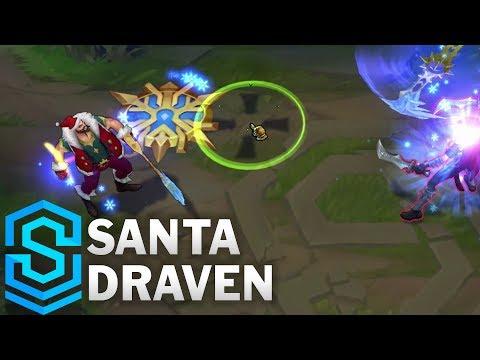 Santa Draven Skin Spotlight - Pre-Release - League of Legends