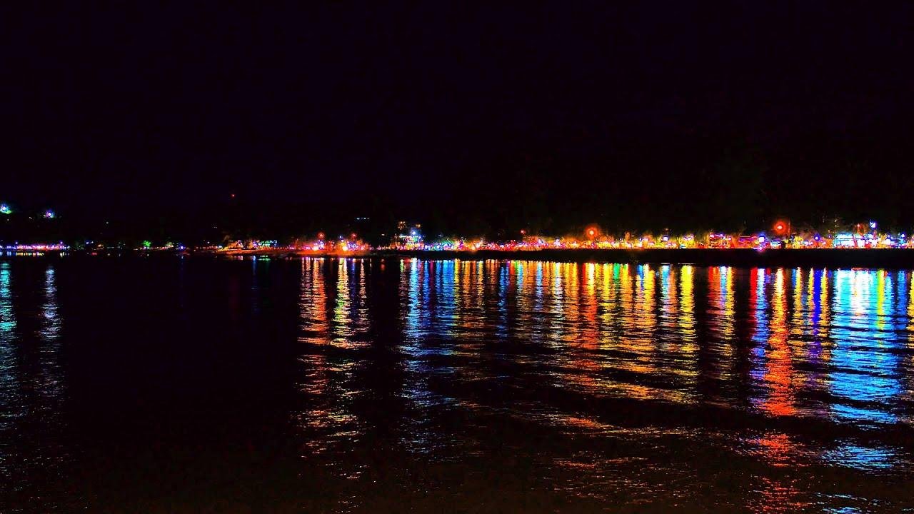 Time Lapse Rawai Beach Night Lights 4k