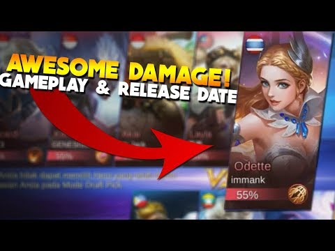 ODETTE FULL Gameplay & Release Date! Mobile Legends New Hero Build