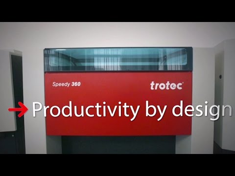 Trotec Speedy 360 Laser Engraver and Cutter