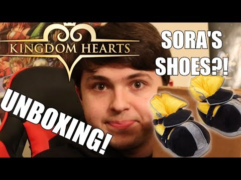 I HAVE SORA'S SHOES!?! - Kingdom Hearts Slippers Unboxing!