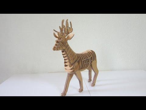 DIY KIT - Cardboard Reindeer