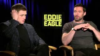 Eddie the Eagle: Hugh Jackman & Taron Egerton Exclusive Interview