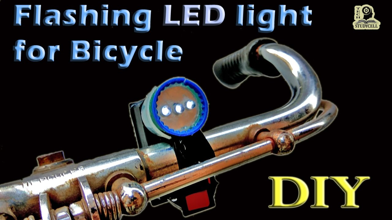How To Make Flashing Led Light For Bike Using Transistor Blinking Circuit With A Capacitor And Two Resistors Electronics Weekend Projects