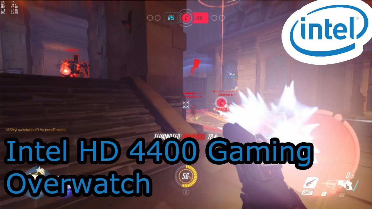 Intel HD 4400 Gaming - Overwatch - i3-4005U, i5-4210U, i7 ...