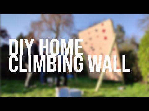 DIY Home Climbing Bouldering Wall