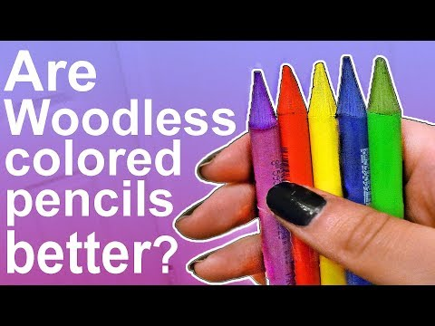 ARE WOODLESS COLORED PENCILS BETTER THAN REGULAR?
