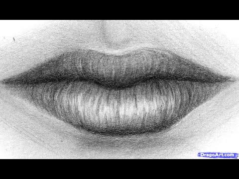 5- Drawing realistic mouth - رسم الفم بالرصاص - YouTube