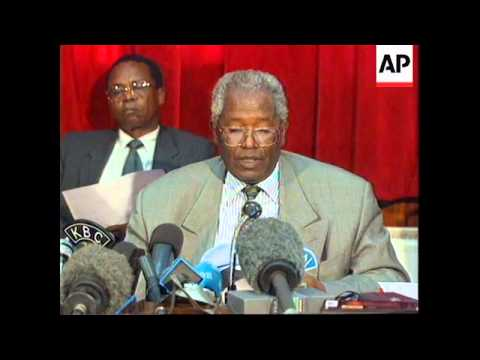 Kenya-Daniel Arap Moi wins presidential elections