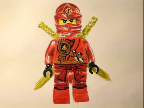 how to draw kai from ninjago 2015 youtube. Black Bedroom Furniture Sets. Home Design Ideas