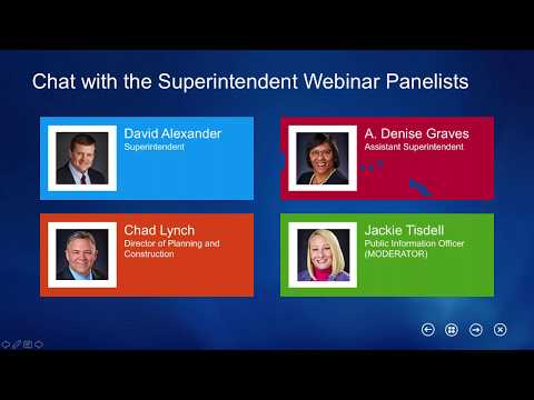 Chat with the Superintendent Oct. 26, 2017 Webinar