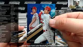 10/16/2019 2019 Topps Gold Label Baseball Case Random Teams #1