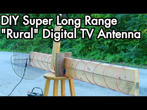 Digital TV Antenna Experiments 02: DIY Super Long Range Axial