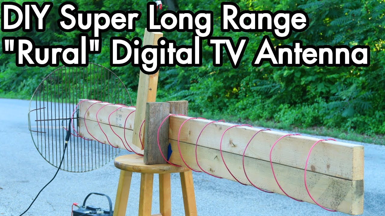 Digital TV Antenna Experiments 02: DIY Super Long Range Axial / Helical
